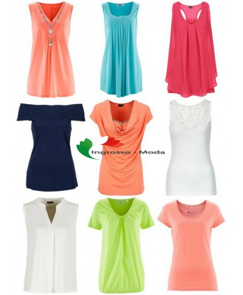 Parti superiori da donna mix di T-shirt e tops