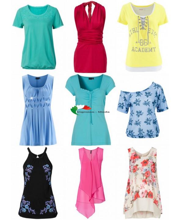 Parti superiori da donna mix di T-shirt e tops