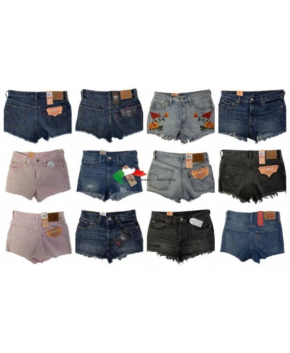 Levis Jeans Shorts Donna Marchi Pantaloni Marca Jeans Mix