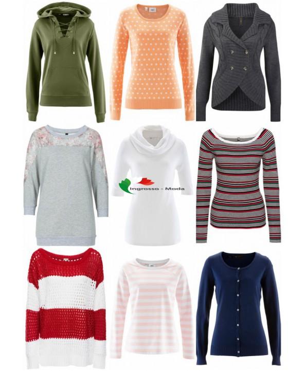 Della donna maglione maglione Knit Mix