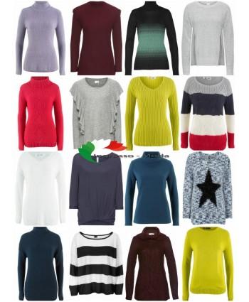 Mix di tessuti moda donna autunno inverno - Pullover a maglia Pullover a maniche lunghe Camicie ecc