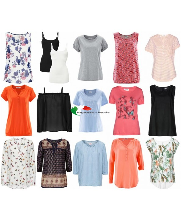 Abbigliamento estivo da donna Saldi T-shirt Camicette Tuniche Pantaloni Tops Abiti