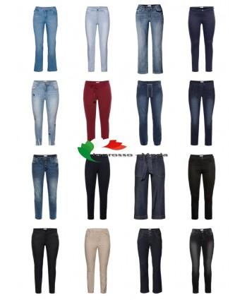 Ladies Plus Size Moda Taglie forti Jeans Jeans Taglie grandi Mix di carte rimanenti
