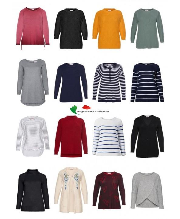 Ladies Plus Size Fashion Plus Size Pullover Sweater Knitwear Big Sizes Stock Mix rimanente