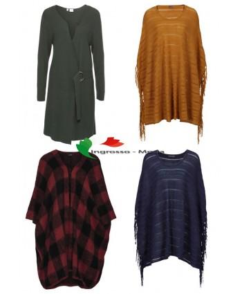 Salopette da donna Poncho lavorato a maglia maglione autunno