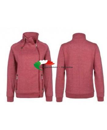Giacca da donna sottocoppa giacca felpata giacca da autunno con cerniera rosso marrone nero