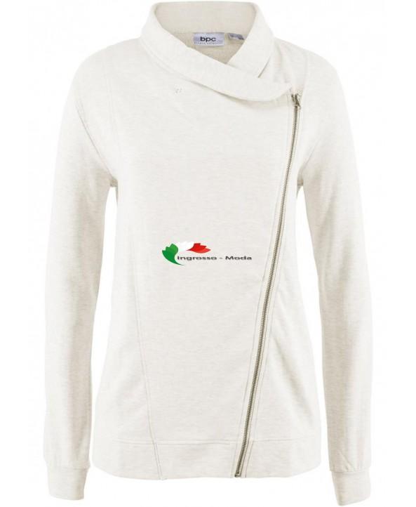 Collare dello scialle del pullover del rivestimento del sudore delle signore Sweat Biker Jacket