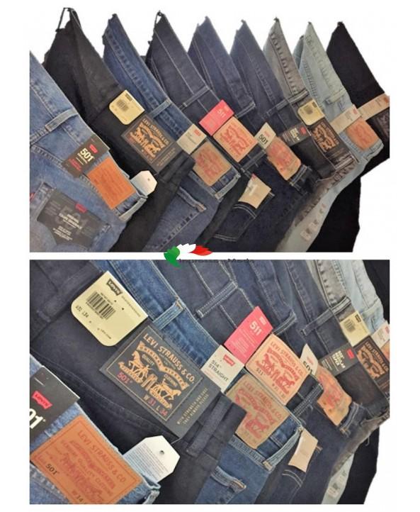Levis Jeans Uomo Marchi Pantaloni Brand Jeans Mix