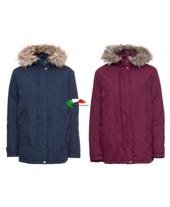 Giacca invernale da donna blu rosso giacca invernale invernale