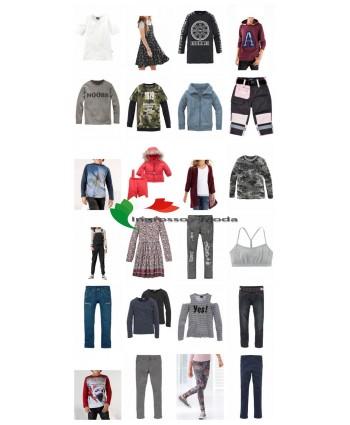 Abbigliamento per bambini Pallet Marchi Moda per bambini Panca Buffalo ecc