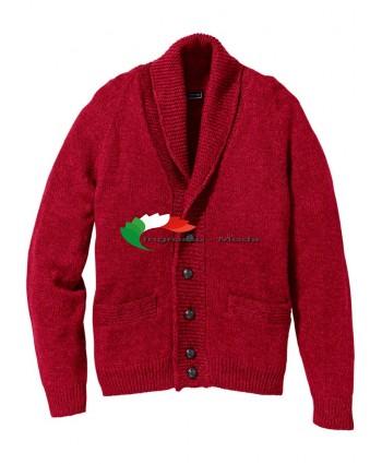 Cardigan da uomo rosso Regular Fit
