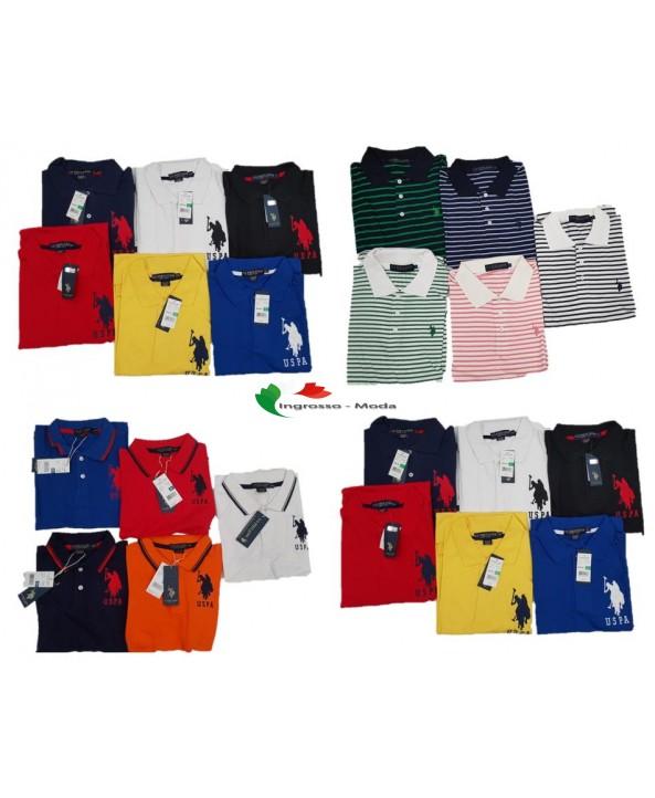 US Polo Assn. Camicia da uomo Polosirt Uni Stripped Brand Polo Mix