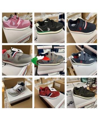 US Polo Assn. Scarpe per bambini di marca scarpe sneaker mix