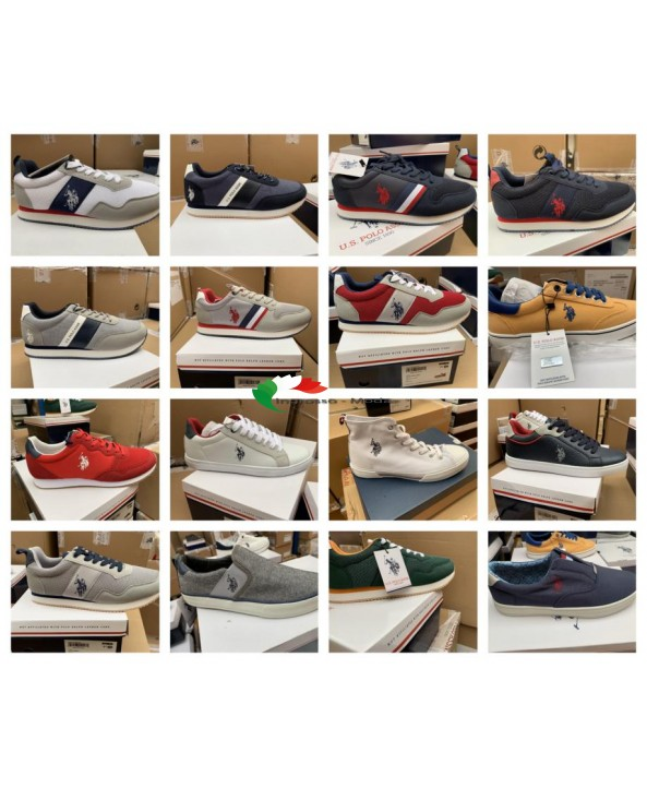 US Polo Assn. Scarpe da uomo di marca scarpe sneaker mix