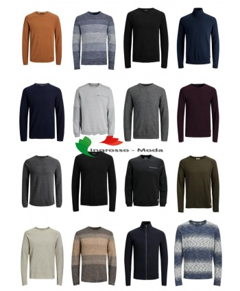 Jack & Jones Pullover Felpa Uomo Mix