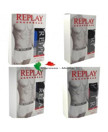 Replay boxer shorts uomo intimo mix - confezione da 3