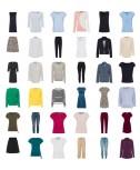 Zero abbigliamento moda donna tessile mix